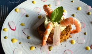 Salade de quinoa entre terre et mer