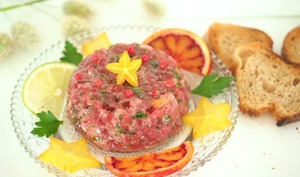 Tartare de thon rouge à l'orange