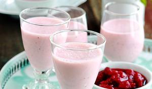 Panna cotta au coulis de fraises