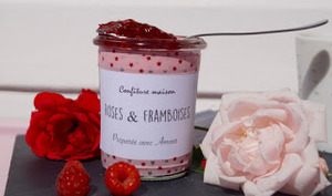 Confiture framboise-rose