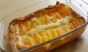 Gratin abricots amandes
