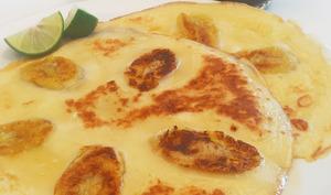 Banana pancakes au lait de coco