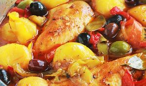Poulet aux poivrons et pommes de terre