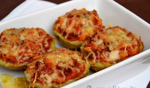 Pommes de terre farcies à la tomate cerise