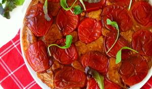 Gâteau renversé façon tatin de tomates