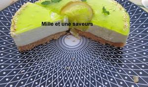 Entremet mojito citron vert et menthe fraîche