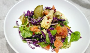 Salade composée au saumon
