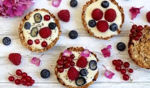 Tartelettes granola pour le petit-déjeuner