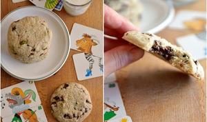 Biscuits à la farine de sarrasin, chocolat et pistaches