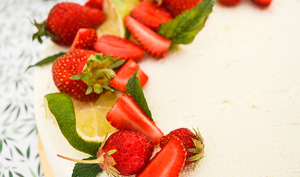 Entremets mojito fraise