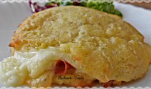 Schiacciatine de pommes de terre au fromage et mortadelle