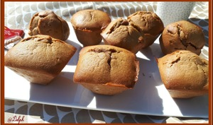 Muffins coeur pâte de spéculoos