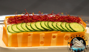 Sandwich cake crudités fromages