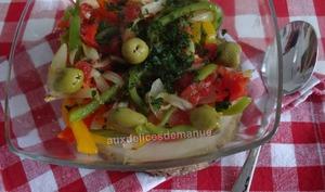 Salade de légumes grillés au citron et huile d'olive