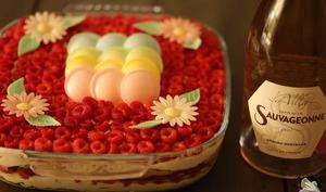 Tiramisu pétillant vanille framboises