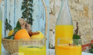 Infusion chaude ou glacée citron curcuma & gingembre