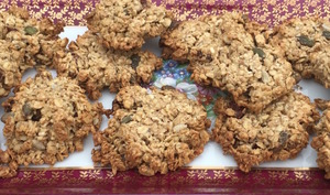 Cookies avoine, graines de tournesol et potiron