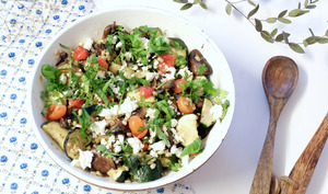 Salade d'orge perlée aux légumes rôtis