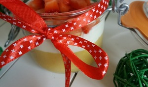 Verrine crème citron et fraises