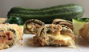 Cannelonis de courgettes panés jambon et gruyère