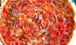 Tarte à la tomate et aux amandes d'après Ottolenghi