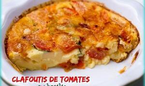 Clafoutis de tomates au basilic