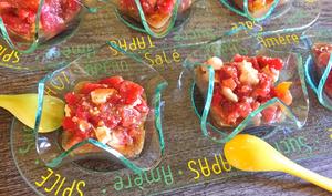 Verrines de tomates à la feta