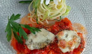 Blanc de poulet à l'Italienne et ses spaghettis