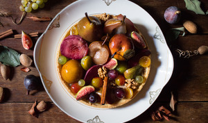 Tarte aux fruits des vendanges