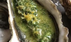 Huîtres à la salsa verde