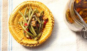 Haricots verts lacto-fermentés à l'huile d'olive