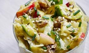 Salade aux deux choux marinés