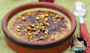 Crème brûlée pistache