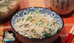 Salade de nouilles aux haricots verts
