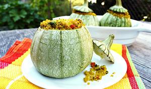 Ronde de Nice farcie au quinoa, façon indienne