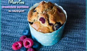 Muffins framboises myrtilles au mascarpone