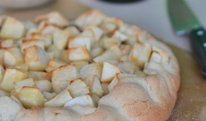 Tarte rustique pomme châtaigne