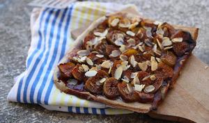 Pizza sucrée aux figues
