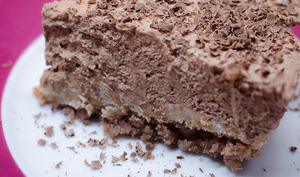 Gâteau crousti-fondant aux 3 chocolats