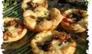 Bouchées au Comté, Figues, Jambon Cru et Basilic
