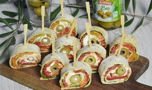 Wraps aux légumes et olives vertes
