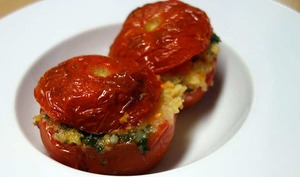 Tomates farcies volaille persillade