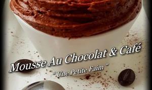 Mousse au chocolat et café