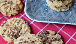 Les cookies coco et chocolat