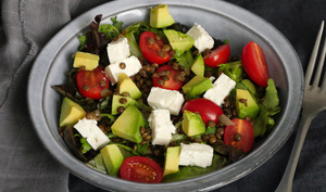 Salade de lentilles vertes du Berry tomates feta