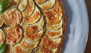 Tarte fine à la courgette, ricotta et parmesan