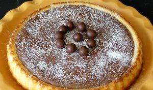 Tarte renversée mousse au chocolat