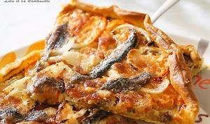 Tarte aux anchois et tomates