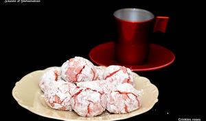 Crinkles ou craquelés aux biscuits roses de Reims