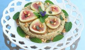Salade quinoa menthe et figue